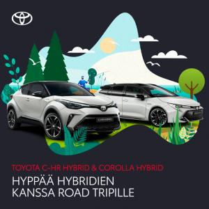 Kun matka on yhtä tärkeä kuin määränpää. Nyt Corolla-mallistoon Hybridipaketti 0 € ja C-HR-mallistoon 990 €. Lue lisää: www.nyst...