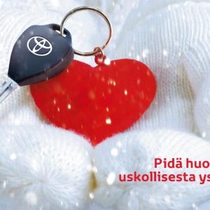 Trevlig vändag! Boka service i dag 14.2 på adressen toyotahuoltovaraus.fi, så får du som present en varm Toyota-mössa.♥️